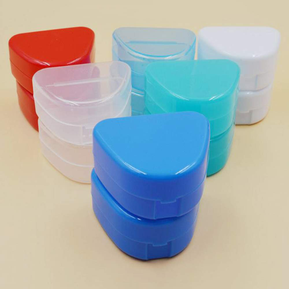 1pcs Orthodontic Braces Dental Braces Box Silicone Teeth Alignment Trainer Teeth Retainer Mouth Guard Braces Tooth Tray