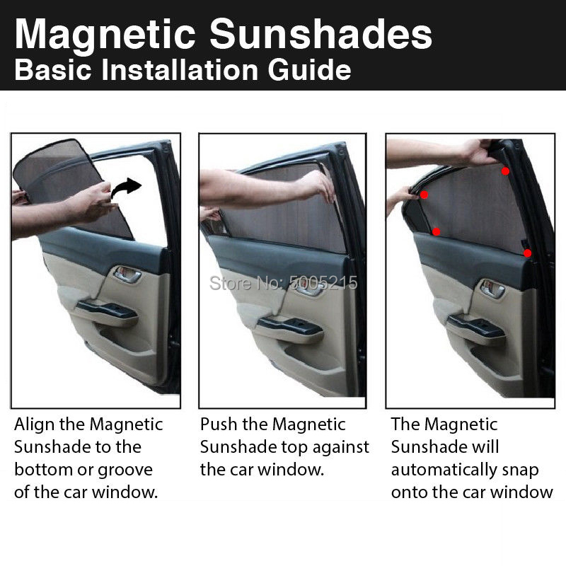 4 Pcs Magnetic Car Side Window Sunshade Laser Shade Sun Block Visor Solar Protection Mesh Cover Side Door For Toyota PICNIC in Side Window Sunshades from Automobiles Motorcycles