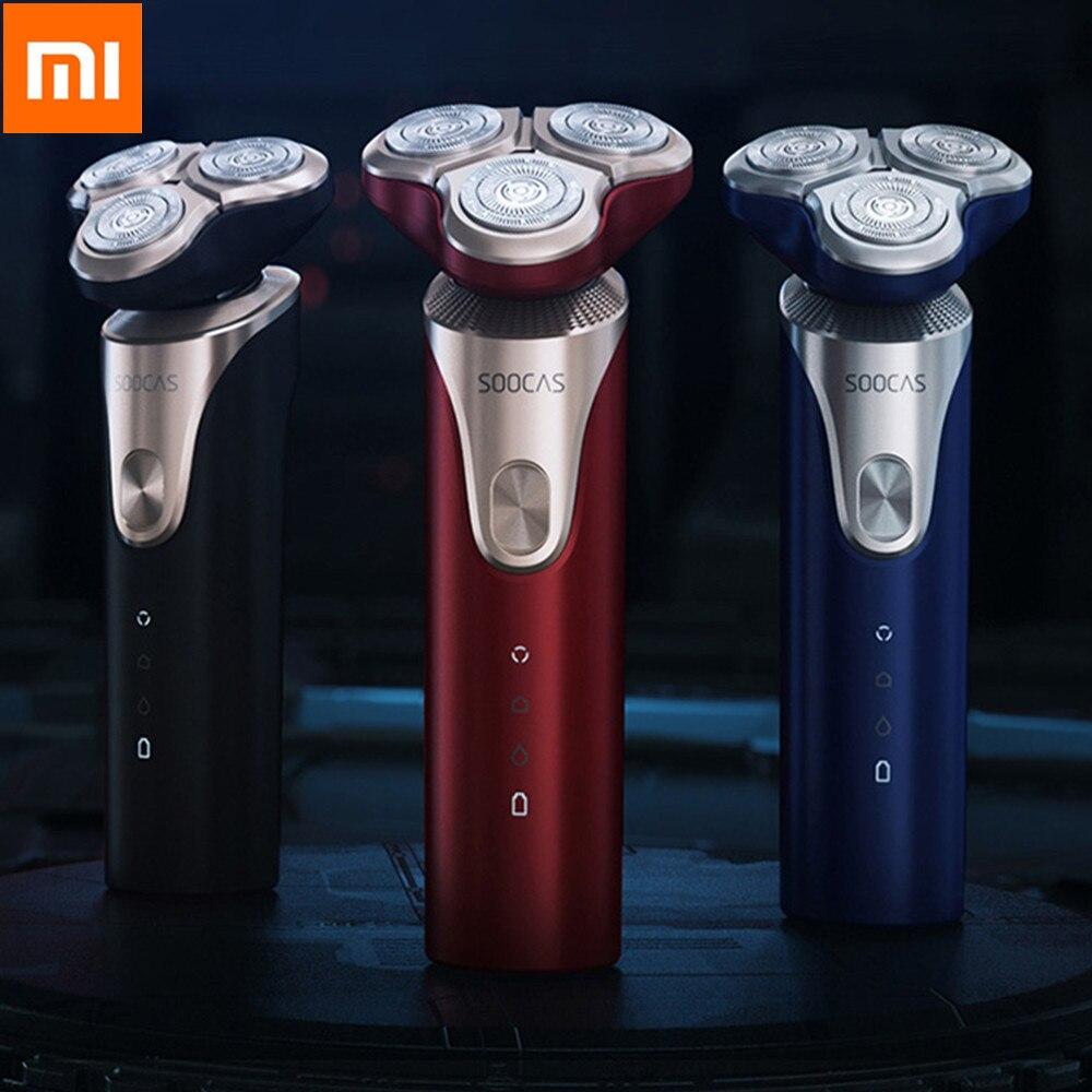 Rasoir électrique Original Xiaomi Soocas S3 pour hommes rasoir électrique Rechargeable USB tondeuse à barbe intelligente Machine à raser