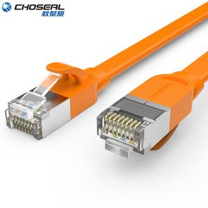 CHOSEAL CAT7 Ethernet Cable RJ45 10GB Fast Shielded SSTP Network Cable Flat LAN Network Patch Cord Cat7 For Router Computer(China)