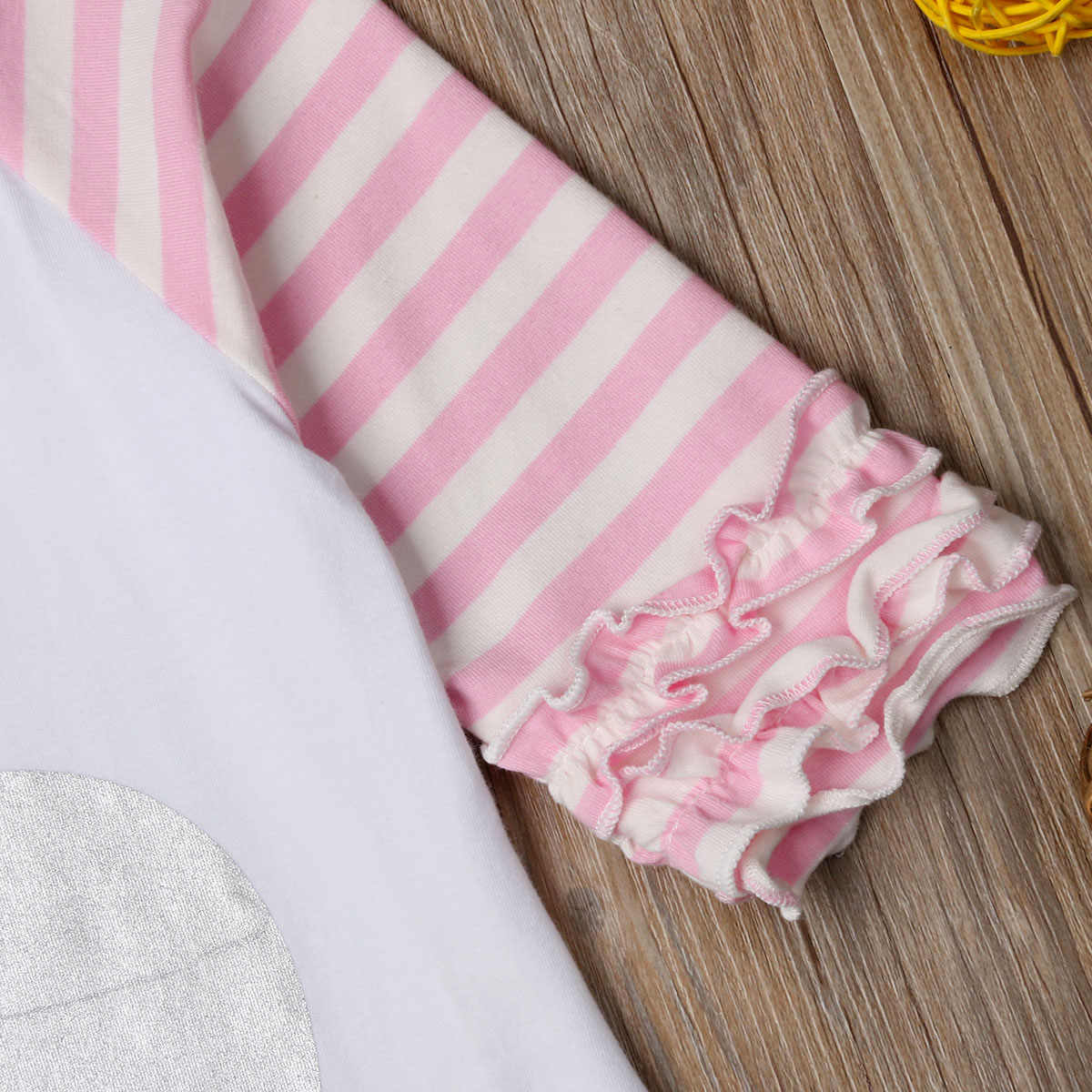 Baby Girls Rabbit Bunny Ruffle T Shirt Top Animal Blouse Outfit for Baby Girl Children Clothes Kid Toddler Clothing