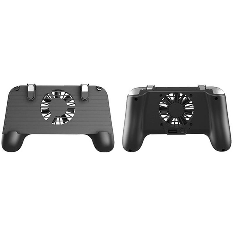GamePad Mobile Phone Cooler Cooling Fan Gamepad Holder Stand 2500mAh Power Bank Radiator Mute Fan For Android /IOS Smartphone