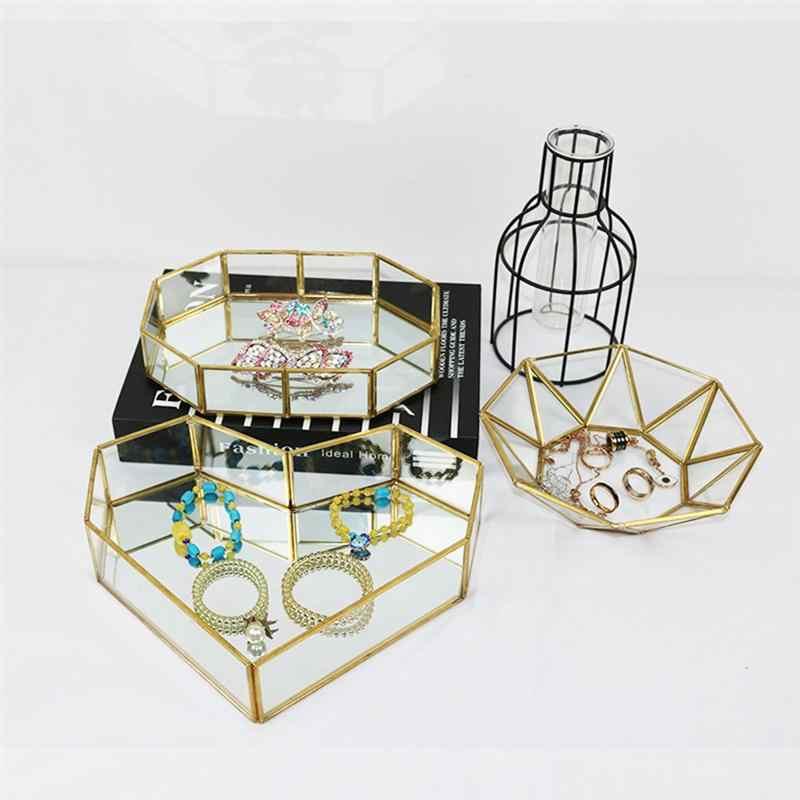 Pinceles de Maquillaje 4 Piezas Bandeja de Organizador de Almacenamiento de Metal de para Encimeras de Tocador de Ba/ño Candelabro Armarios Soporte para Relojes Gafas de Lectura Tocadores Aretes