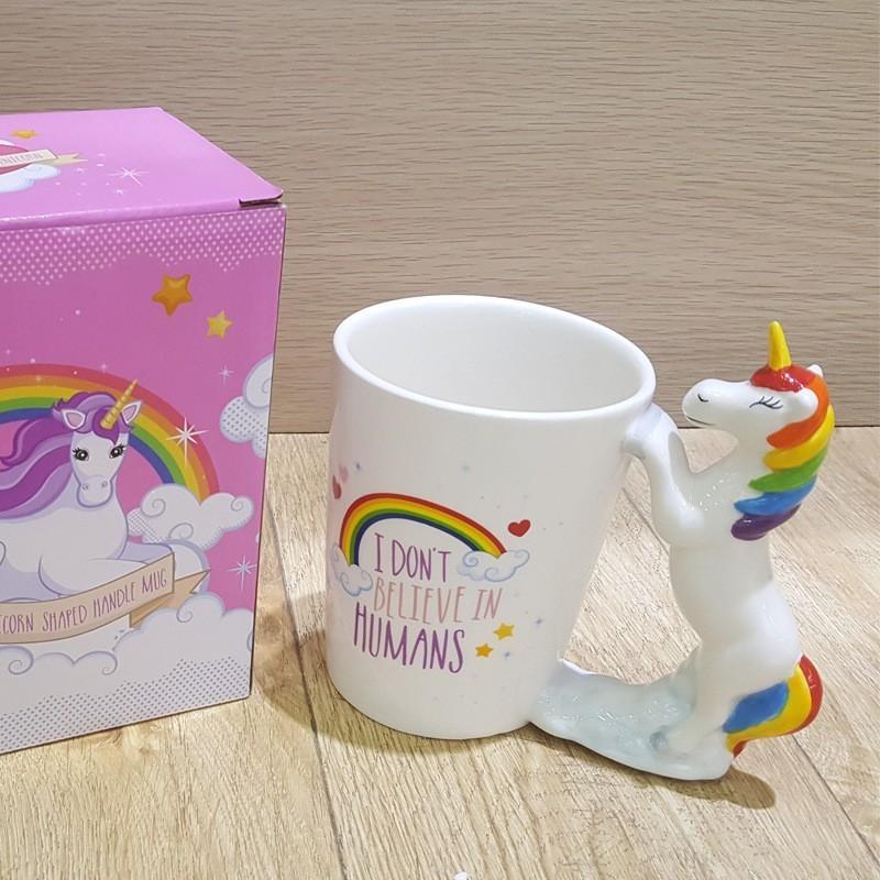 3D Unicorn Cartoon Coffee Water Milk Ceramic Mug Tea Cup Decor Birthday Gift US