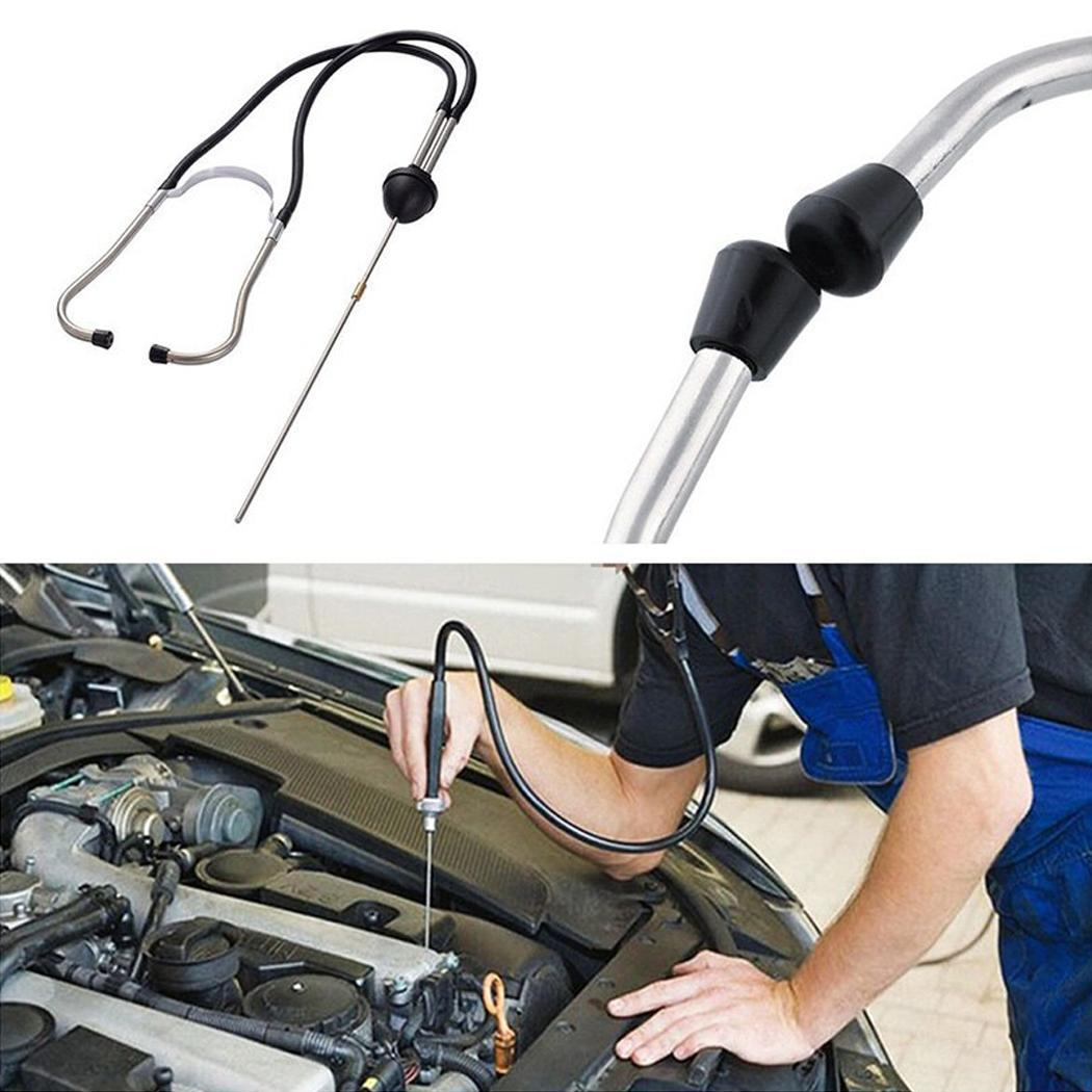 Free Shipping New Car Stethoscope Auto Mechanics Engine Cylinder Stethoscope Hearing Tool Car Engine Tester Diagnostic Tool-in Engine Analyzer from Automobiles & Motorcycles