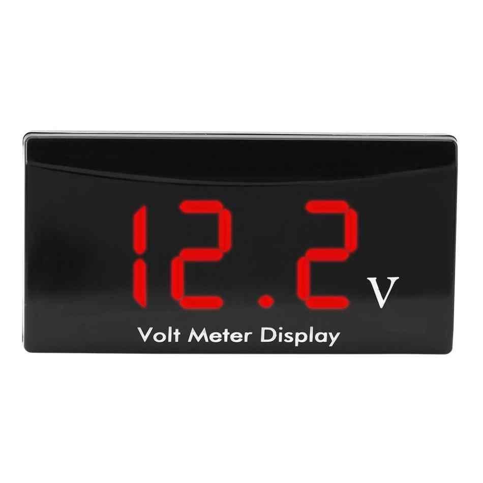 12 В вольтметр напряжение Вольт Панель датчика метр для автомобиля мотоцикла цифровой светодиодный дисплей инструмент