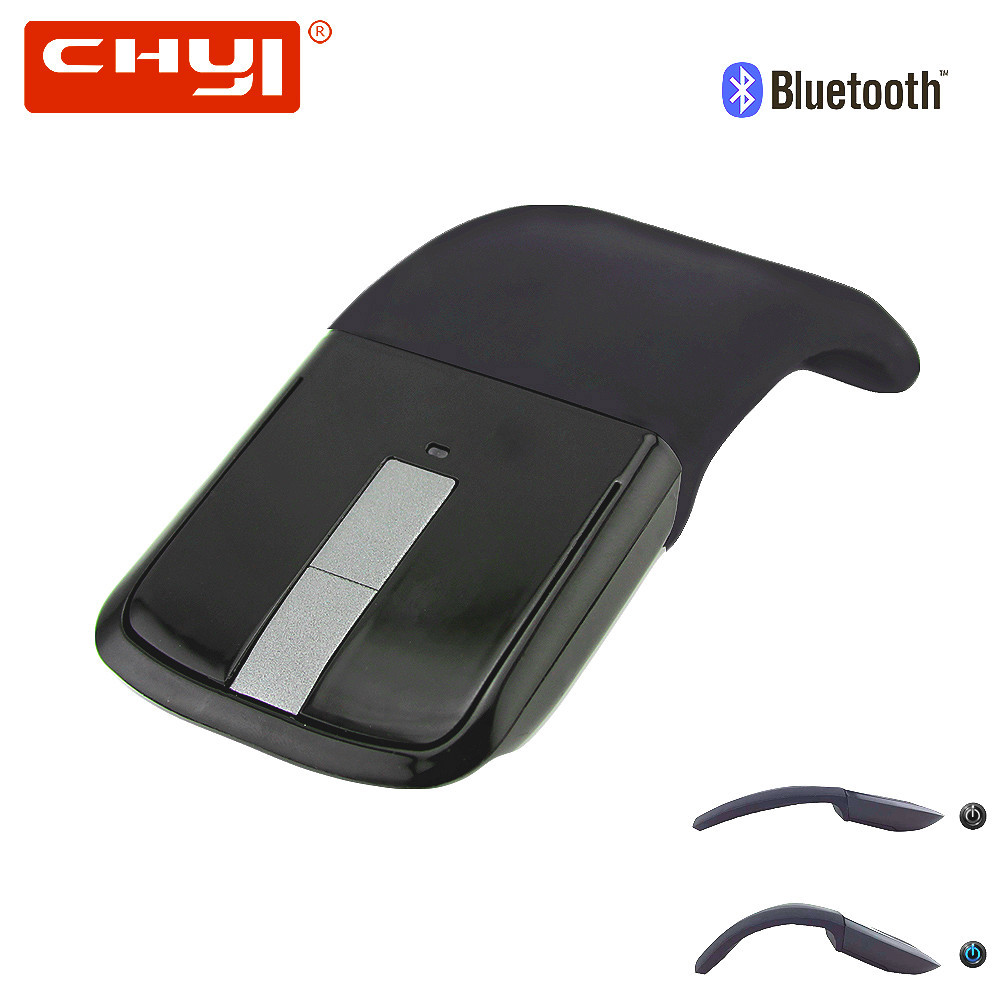 CHYI Pieghevole Senza Fili Bluetooth Del Mouse Pieghevole Arc Touch Mouse 1200 dpi Ottico USB Del Computer Sottile Mause per Il Microsoft Surface PC
