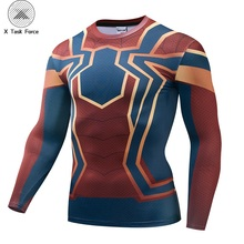 New Compression Long Sleeve Shirt Spider-man: Homecoming Iron Spider Cosplay Unisex 3D T-shirt X Task Force