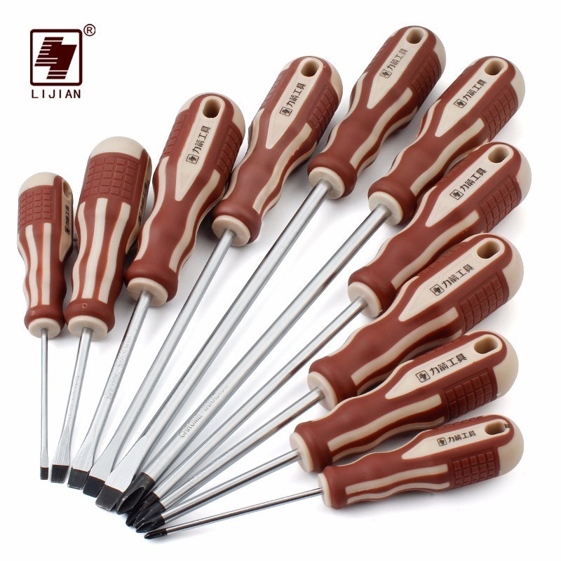 LIJIAN Precision Mini Magnetic Long Screwdriver Ratchet Screw Drivers Driver Bit Set Repair Tools Box Professional Screwdrivers
