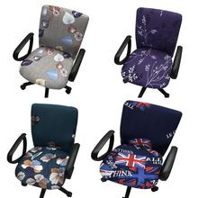 купить Universal Elastic Cotton Fabric Office Computer Chair Cover Task Anti-dirty Armchair Protector Slipcove Chair Slipcover по цене 287.23 рублей