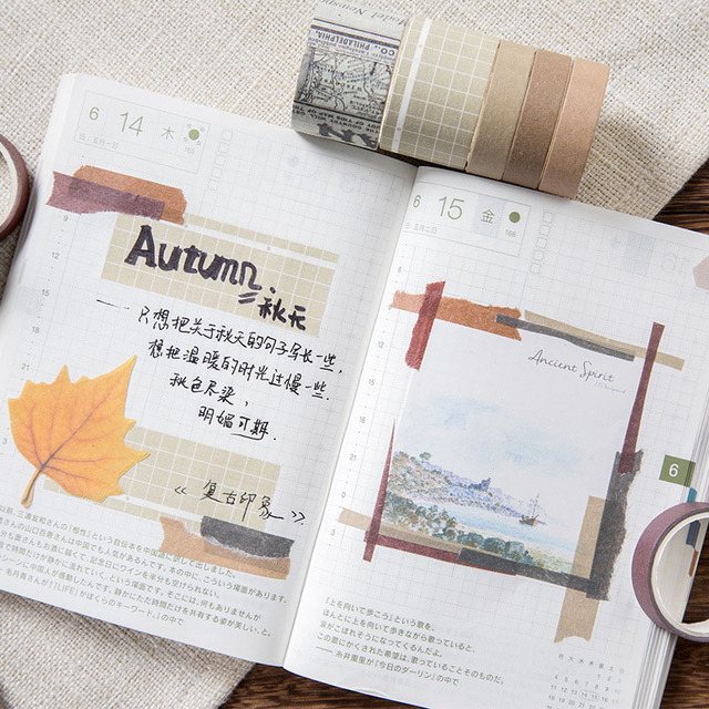 10Pcs/Set Cute Grid Washi Tape SetDecorative Adhesive Tape  Kawaii Masking Tape For Kids DIY Scrapbooking Diary Photos Albums 3