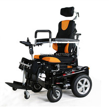 2019 Free shipping Power lift up seat foldable handicapped standing up electric wheelchair
