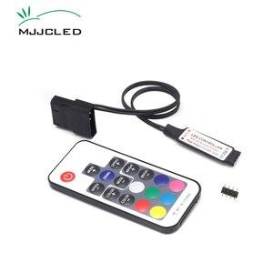 SATA RGB Controller RF17 Keys Remote DC 12V Wireless Large 4 Pin RGB Controller for PC Computer Case 5050 RGB LED Strip Light(China)