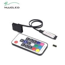 SATA RGB בקר RF17 מפתחות מרחוק DC 12V אלחוטי גדול 4 פינים RGB בקר עבור מחשב מחשב מקרה 5050 RGB LED רצועת אור