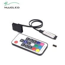 SATA RGB denetleyici RF17 tuşları uzaktan kumanda DC 12V kablosuz büyük 4 Pin RGB denetleyici PC bilgisayar 5050 RGB LED şerit ışık