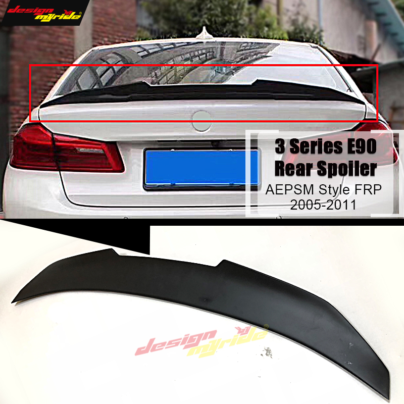 E90 Spoiler stem Wing AEPSM style FRP Primer black For BMW 3 Series E90 320i 323i 325i 328i rear diffuser stem Spoiler 2005 2011 in Spoilers Wings from Automobiles Motorcycles