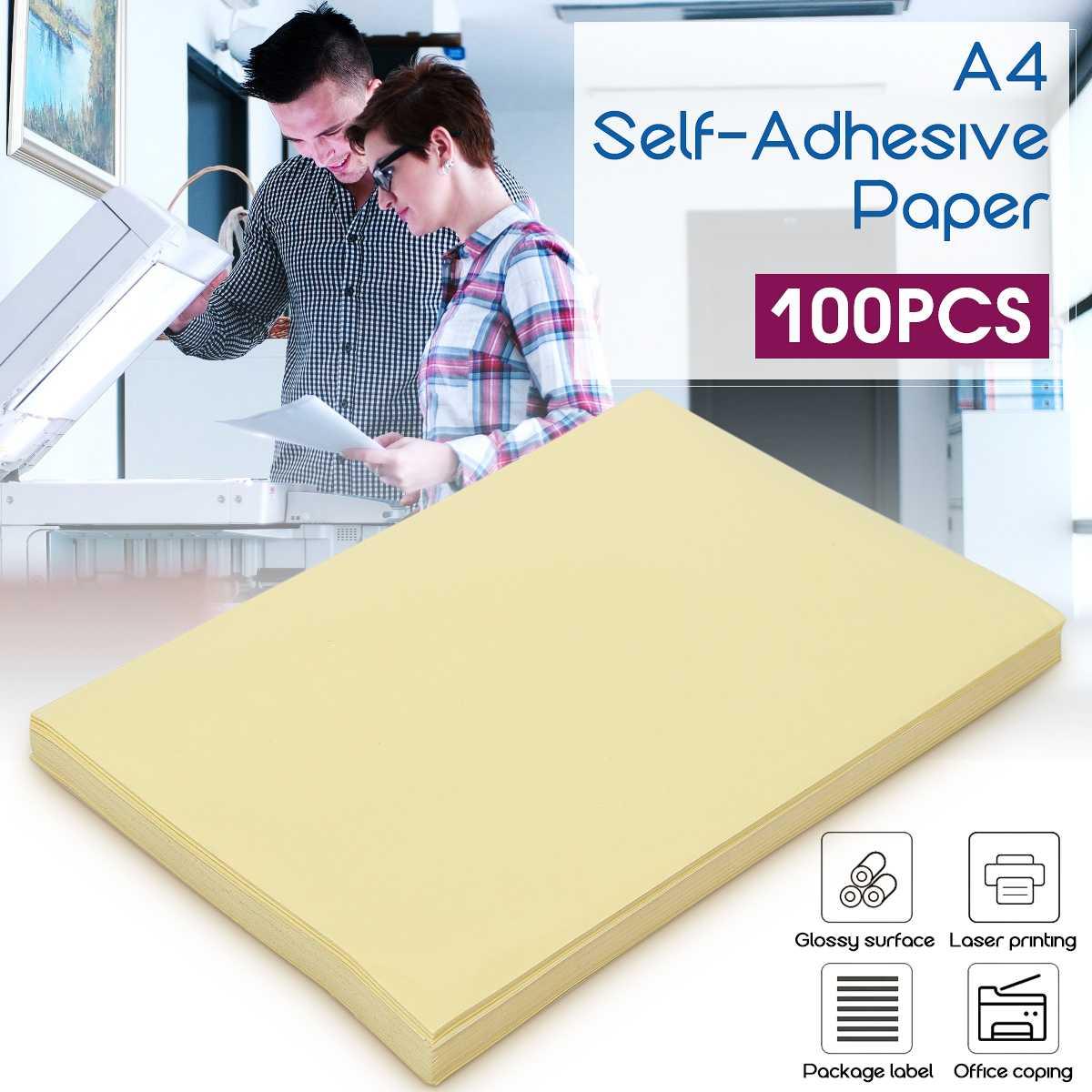 KICUTE 30/50/100 pièces A4 Transparent auto-adhésif impression Laser autocollant feuille de papier pour impression Laser papier impression autocollant