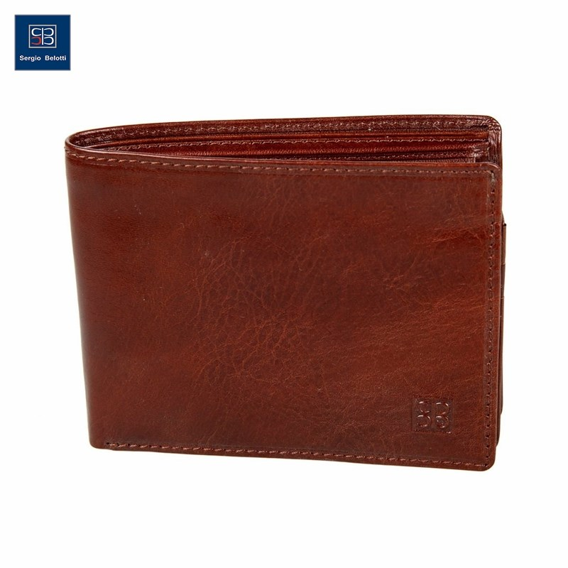 Coin Purse Sergio Belotti 396 Milano Brown new fashion purse wallet female famous brand card holders cellphone pocket gifts for women money bag clutch coin purse ladies