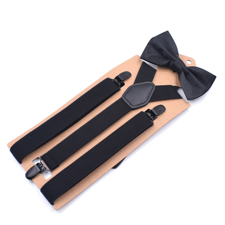 2019 New Adult Three Clip Y-type Straps Bow Tie Suit Elastic Strap Combination Spot High Quality Suspender Belt Fashion