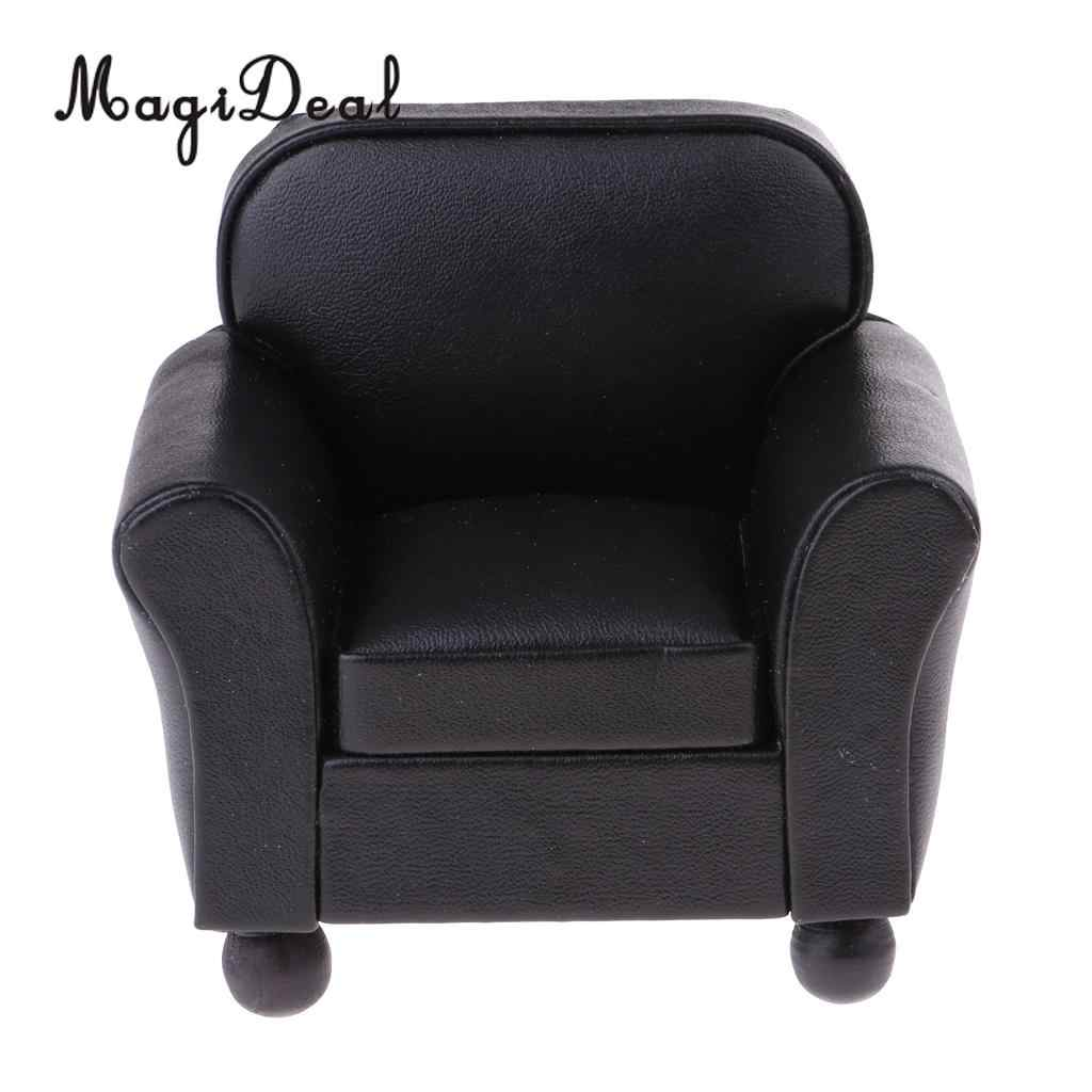 Awesome 1 12 Scale European Style Leather Single Sofa Couch Armchair Miniature Model For Dollhouse Any Rooms Furniture Decor Accessories Pabps2019 Chair Design Images Pabps2019Com