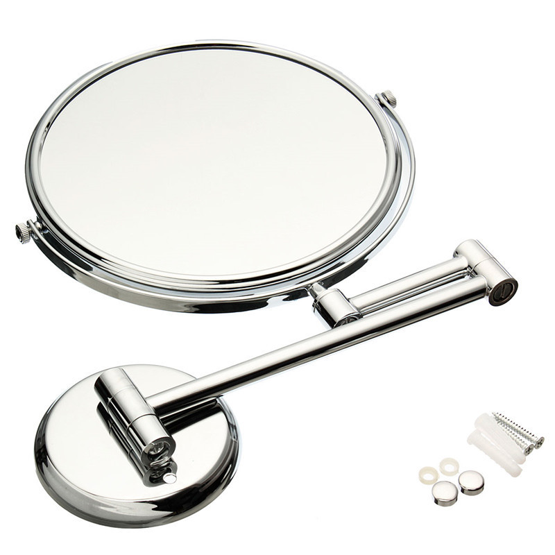 Xueqin 8 Solid Brass Double Faced Bath Mirror Dual Makeup Mirror MagnifierCosmetic Bathroom Wall MountedXueqin 8 Solid Brass Double Faced Bath Mirror Dual Makeup Mirror MagnifierCosmetic Bathroom Wall Mounted