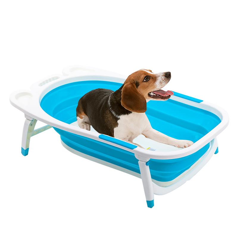Baignoire pliable Portable chien chat pliable baignoire accessoire de lavage pour petits animaux de compagnie moyenne qualité fournitures stables et durables