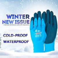 Hohe Qualität Kalt-beweis Arbeit Handschuhe Frostschutz Tragen Widerstand Winddicht Flammschutzmittel Niedrigen Temperatur Betrieb Outdoor Sport