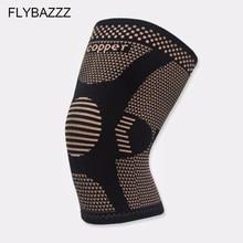 FLYBAZZZ Новые Медные волокна наколенники движения вентиляция наколенники эластичные силы движения наколенники Велоспорт Баскетбол защитная одежда
