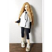 1/6 1/4 1/3 BJD SD кукольная одежда, Толстовка для кукол, модная блузка, рубашка, черные штаны, кукольная одежда, наряды для кукольных аксессуаров