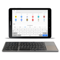 Twice folding wireless Bluetooth Keyboard For Samsung Galaxy Tab S4 A A2 10.5 SM T590/5/7 T830/5 Tablet Touchpad keyboard case