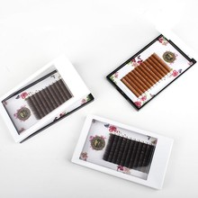 Caramel Color Easy Pick Fashion Grafting Eyelashes Extension Density Plant Personality False Eyelash Natural Brown Coffee