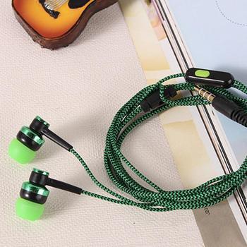 Stereo 3.5mm In-ear Braided Wired Earbuds Earphone Universal Headphone with Mic Earphone