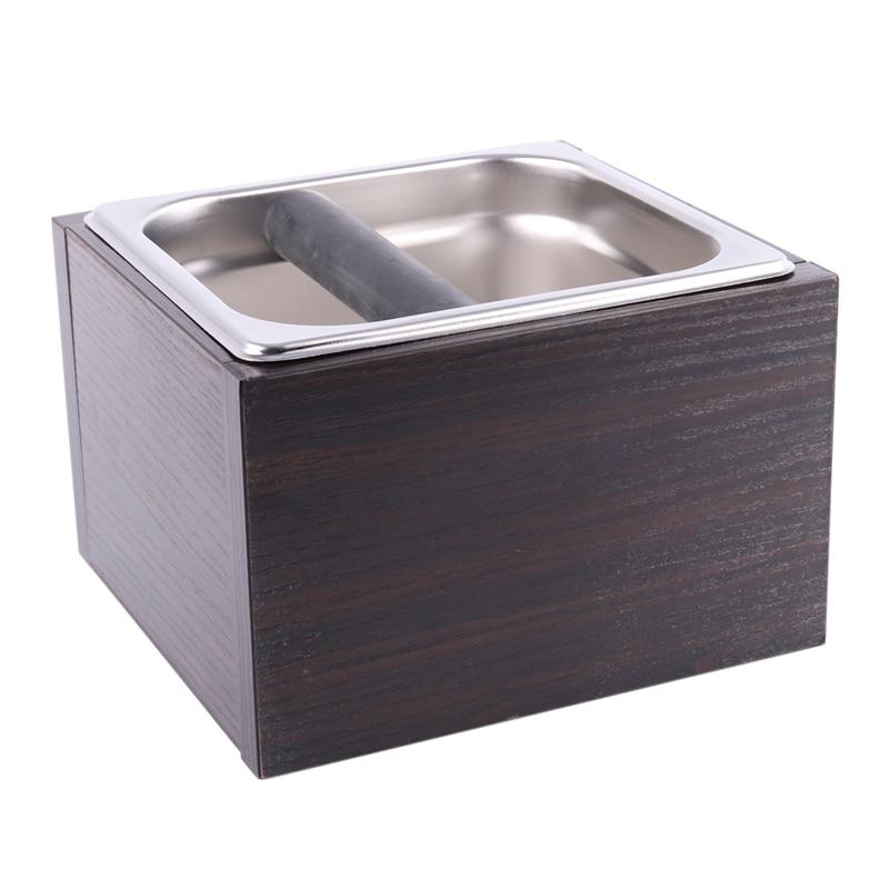 Kosz na śmieci z drewna pojemnik na kawę pojemnik na kawę Espresso pojemnik na odpady Barista z uchwytem pojemnik na resztki kawy pojemnik na odpady B w Filtry do kawy od Dom i ogród na title=