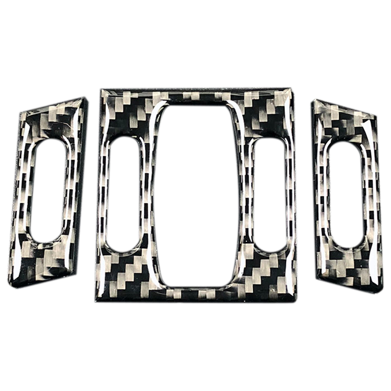 For <font><b>Bmw</b></font> <font><b>E60</b></font> <font><b>Carbon</b></font> Fiber Car <font><b>Interior</b></font> Front Air Conditioner Outlet Decorative Frame Cover Trim 2004-2010 5 Series Accessories image