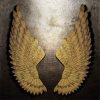 Industry Wall Decoration Angel Wings Retro Metal wings Bar Coffee Shop Wall Decoration Home Bedroom Living room decor Christmas