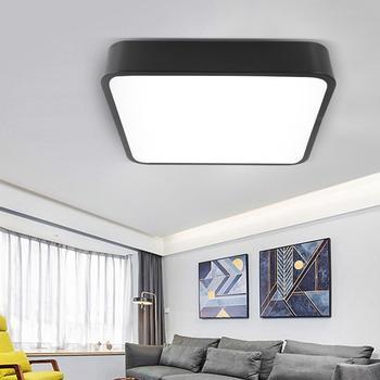 Светодиодный потолочный светильник 85-265 в 18 Вт, встраиваемая лампа для учебы, спальни, гостиной, современный свет