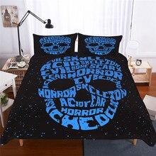 Комплект постельного белья с 3D принтом, пододеяльник, Комплект постельного белья, Череп, домашний текстиль для взрослых, реалистичное постельное белье с наволочкой # KL06