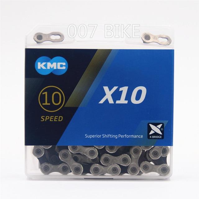 KMC X10.93 Chain 10 20 30 Speed Mountain Bike Bicycle Chain Original X10  MTB Road Bike 116L Chains