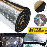 100cm x 55cm Car Noise Sound Heat Insulation Cotton Pads 10mm Thick Waterproof Fireproof Mat   Auto   Car Sound Heat Deadener New
