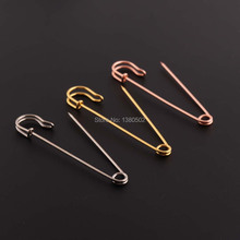 10pcs/lot 76mm Rose Gold /silver /gold color Metal Badge Safety Pins Brooch pins for Sewing Tool