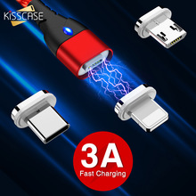 KISSCASE Magnetic Micro USB Type C Cable Fast Charging For iPhone Samsung Data Sync Cord Charger Adapter Cables