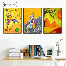 Abstract India Mountain Yellow On Sale Poster Wall Painting Living Room Canvas Art Pictures For Home Decor No Frame