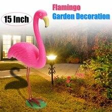 М Размеры украшения украшение для дома, сада, двора номер 31x10,5x40 см Розовый фламинго орнамент садовые полимерные+ металл уличное освещение газона