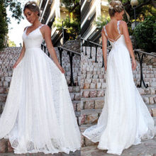 White Long Party Dress Wedding Amazing Sexy Beading  Floor Length Women Lace Formal Bridesmaid