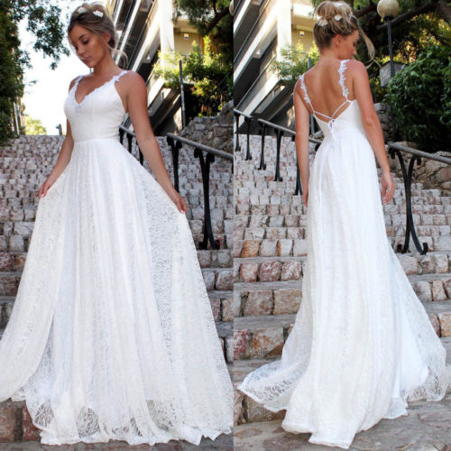 White Long <font><b>Party</b></font> <font><b>Dress</b></font> Wedding Amazing <font><b>Sexy</b></font> Beading Floor Length <font><b>Women</b></font> Lace Formal Wedding Bridesmaid Long <font><b>Party</b></font> <font><b>Dress</b></font> image