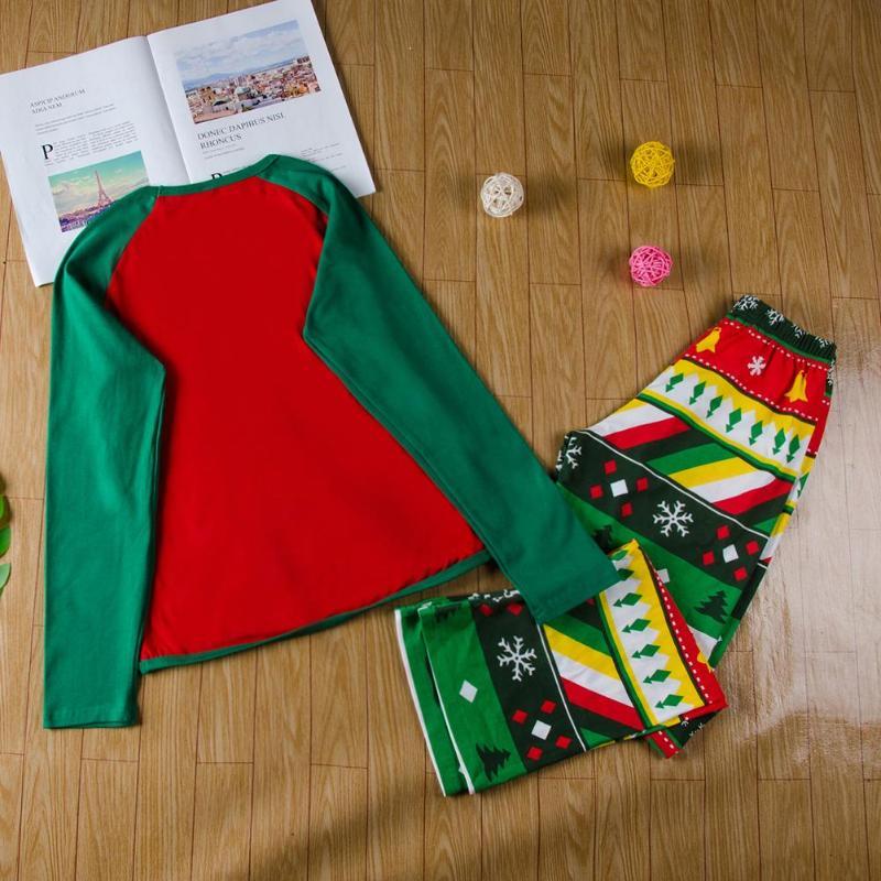 3f0f1144d Baby Romper Family Christmas Pajamas Set Elk Print Nightwear Adult ...