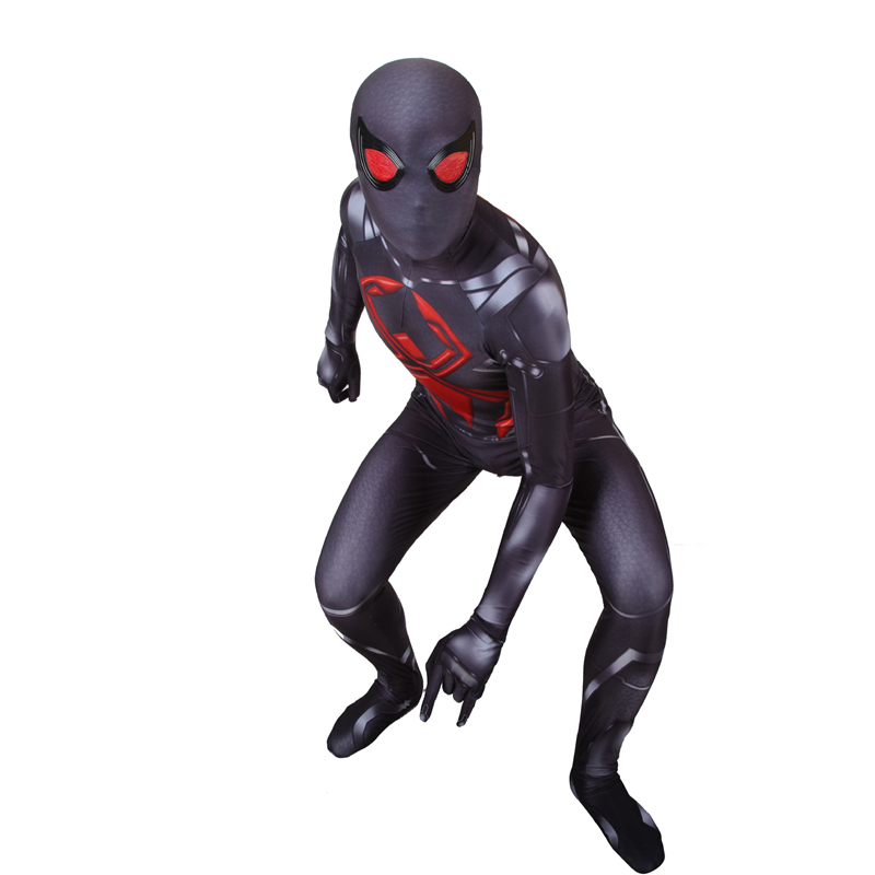 PS4 Spiderman Cosplay Costume Marvel Spiderman Games PS4 Dark Suit Black 3d Printing Jumpsuit Bodysuit Halloween Costume Adult