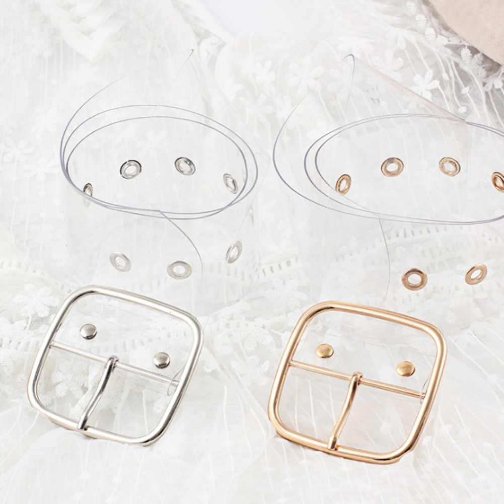Wanita Pinggang Sabuk Resin Transparan Sabuk Panjang Gaun Band Sabuk Jantung Pin Gesper Cinturon Mujer Cinturones untuk Hombr Tali Kulit