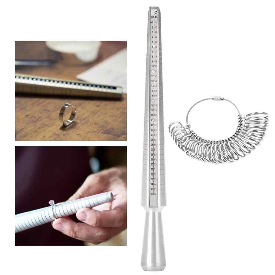Британский размер Кольцо оправка палка палец Калибр размер r ювелирные изделия измерительный инструмент Набор для изготовления ювелирных изделий высококачественные ювелирные изделия инструмент