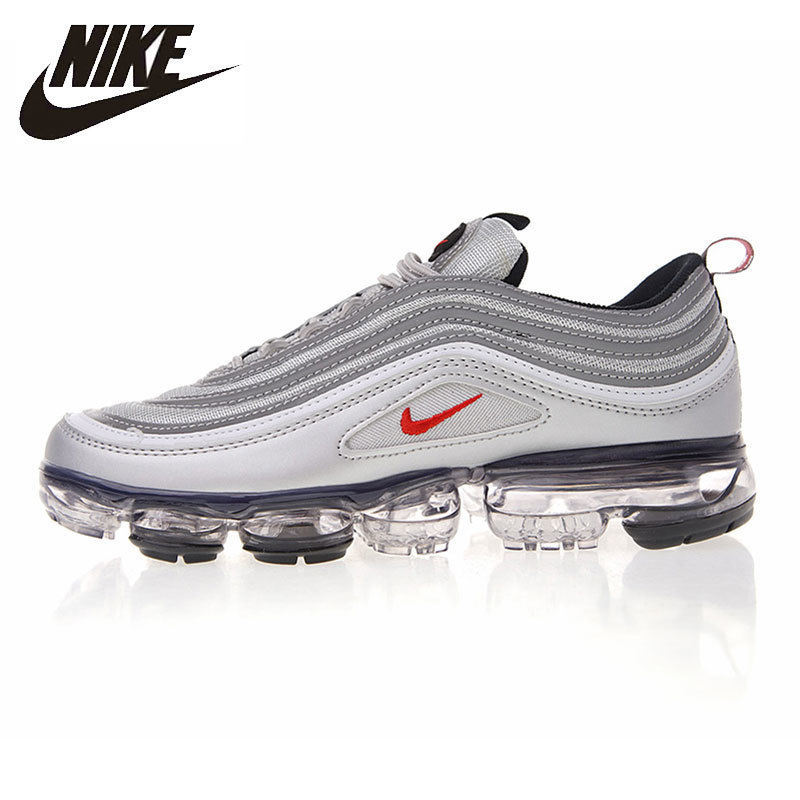 check out 506a7 0f2d3 US $76.8 52% OFF|Nike Air VaporMax 97 Original Men Running Shoes Breathable  Lightweight Shock Absorbing Outdoor Sneakers #AJ7291-in Running Shoes from  ...